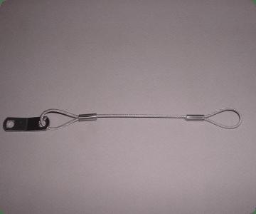 loop-loop-tab stainless steel lanyard